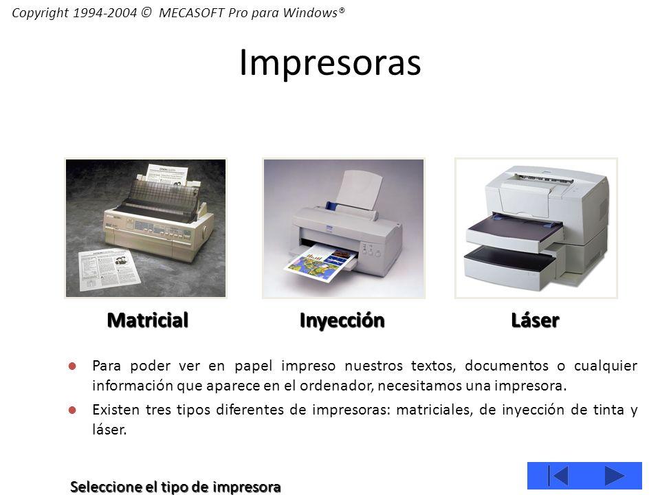 Para poder ver en papel impreso nuestros textos, documentos o cualquier información que aparece en el ordenador, necesitamos una impresora.