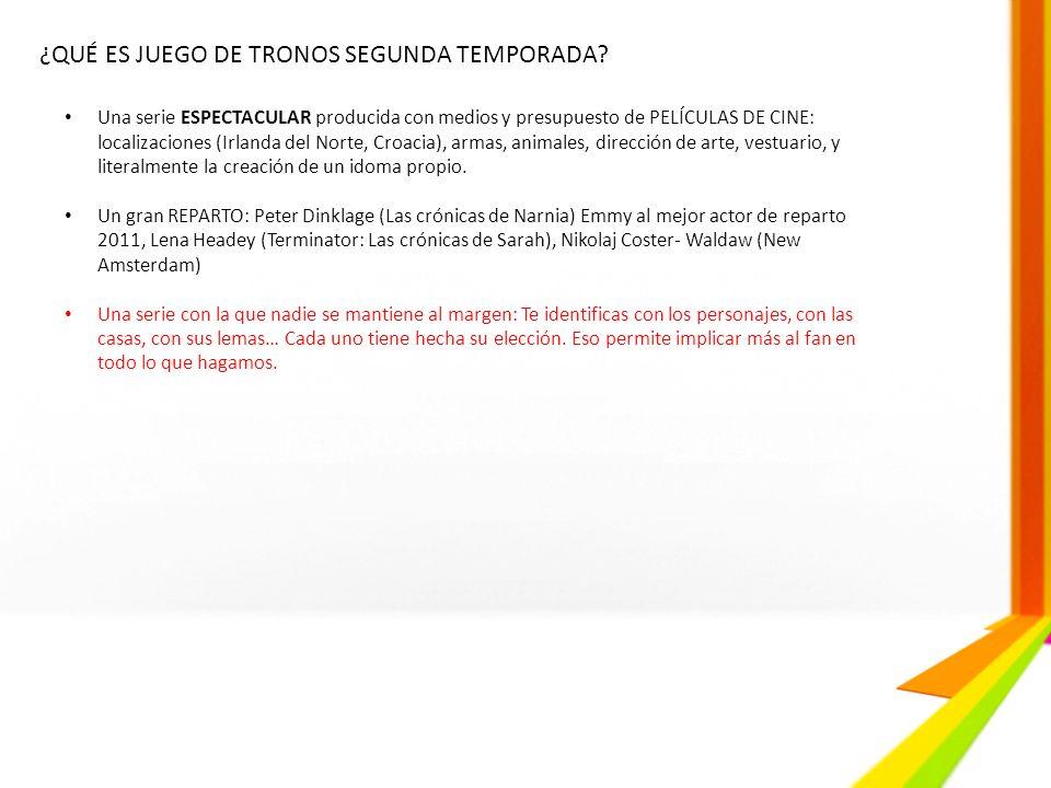 ¿QUÉ ES JUEGO DE TRONOS SEGUNDA TEMPORADA? Una serie ESPECTACULAR producida con medios y presupuesto de PELÍCULAS DE CINE: localizaciones (Irlanda del