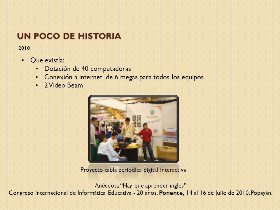 UN POCO DE HISTORIA 2011 IV Salón de Inventores y Alta Tecnología.