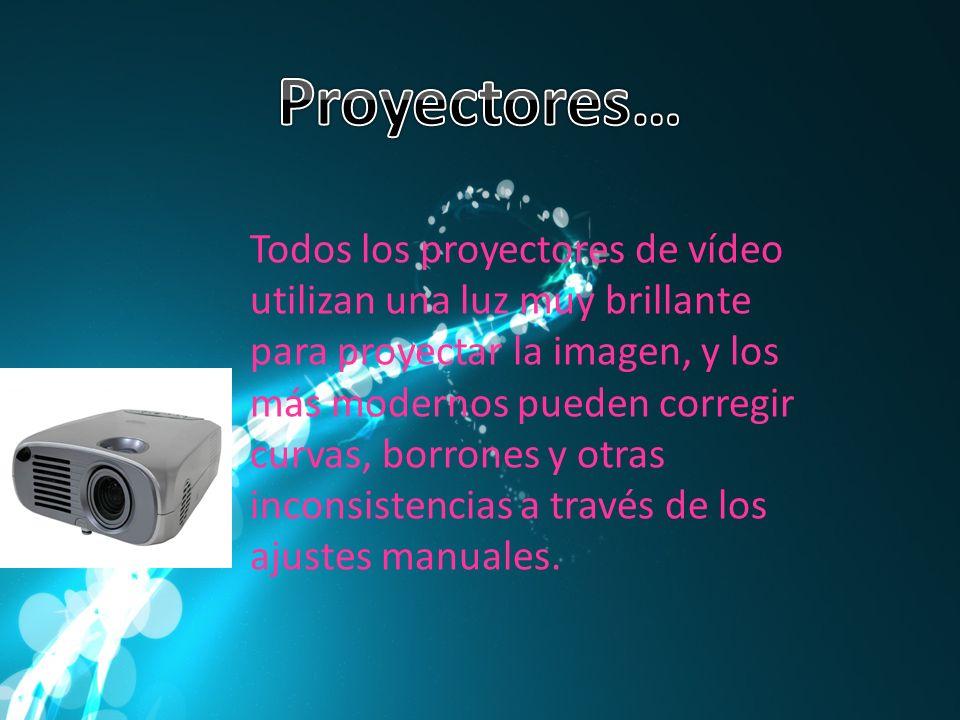 Todos los proyectores de vídeo utilizan una luz muy brillante para proyectar la imagen, y los más modernos pueden corregir curvas, borrones y otras in