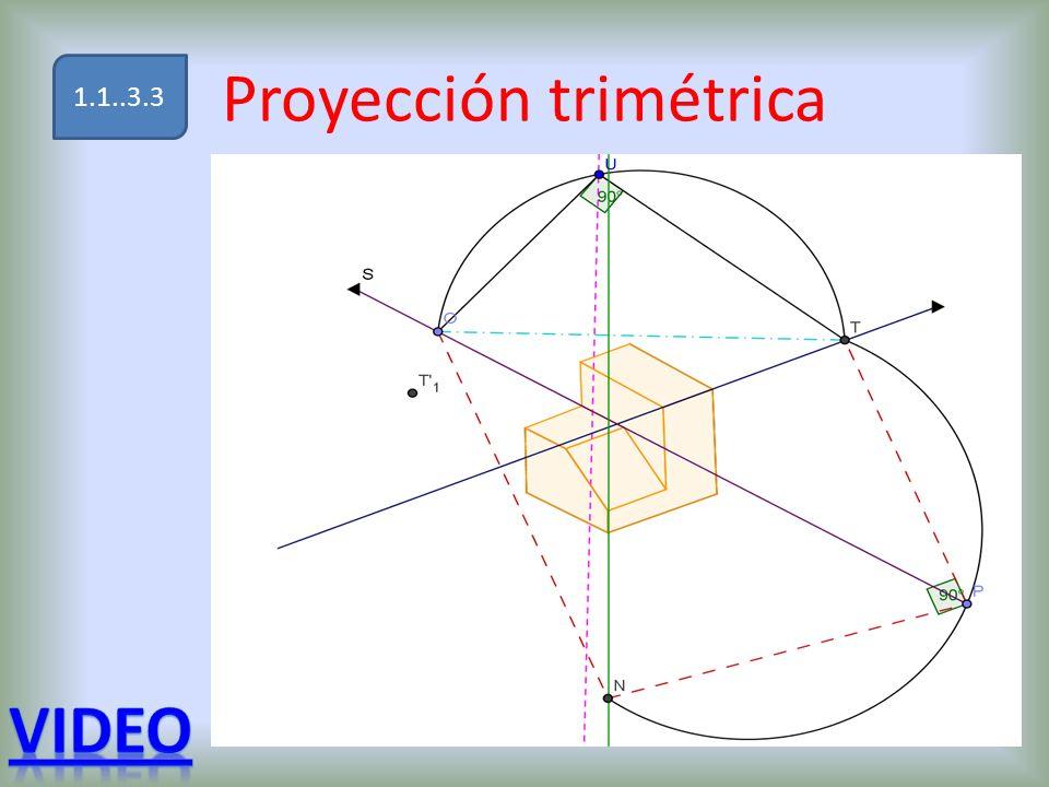 Proyección trimétrica 1.1..3.3