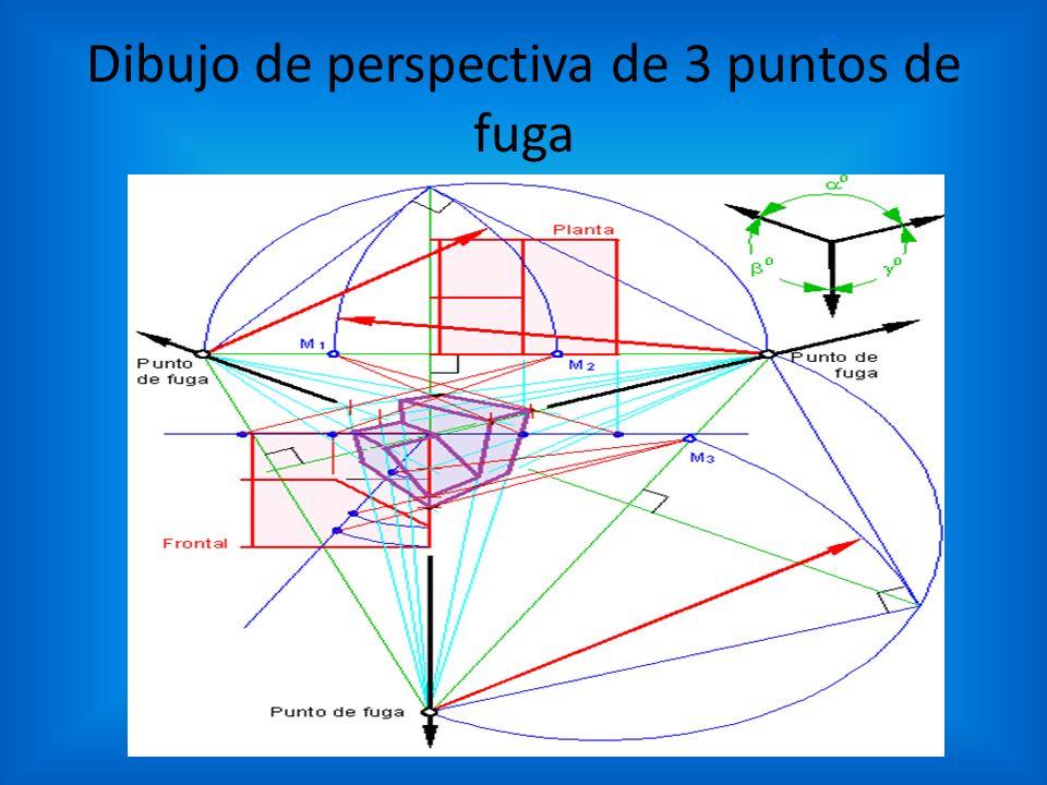 Dibujo de perspectiva de 3 puntos de fuga