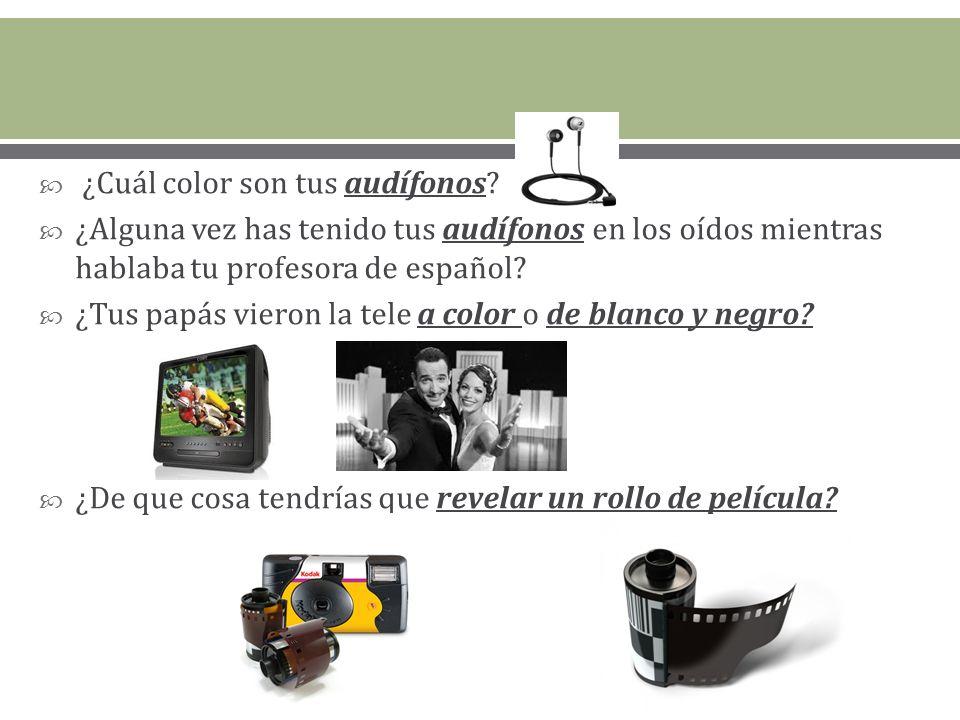 ¿Cuál color son tus audífonos.