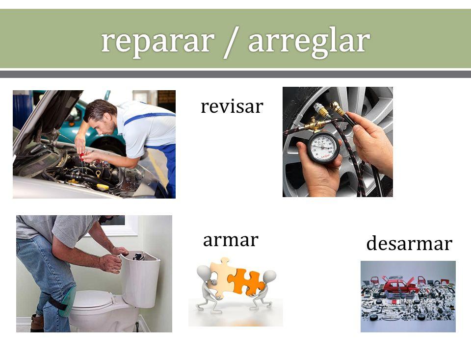 1. el plomero 2. el carpintero 3. el pintor 4. el reparador de electrodomésticos