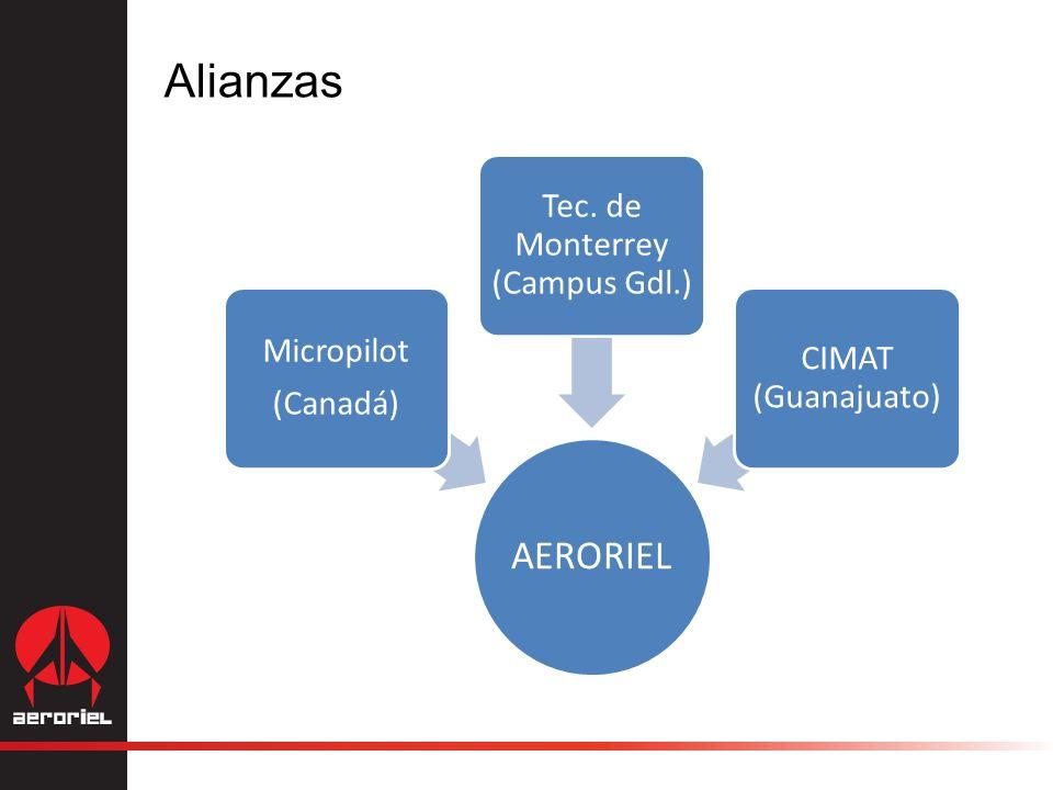AERORIEL Micropilot (Canadá) Tec. de Monterrey (Campus Gdl.) CIMAT (Guanajuato) Alianzas