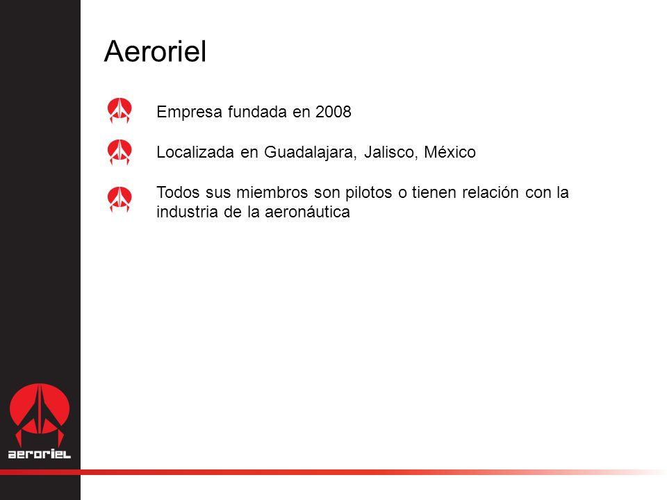 Empresa fundada en 2008 Localizada en Guadalajara, Jalisco, México Todos sus miembros son pilotos o tienen relación con la industria de la aeronáutica Aeroriel