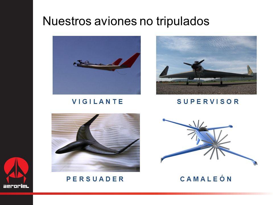 Nuestros aviones no tripulados V I G I L A N T ES U P E R V I S O R P E R S U A D E RC A M A L E Ó N
