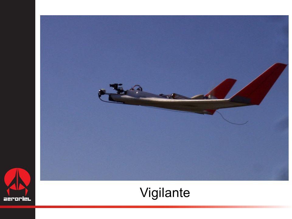 Paquete Vigilante 10 Aviones de monitoreo 4 Estaciones de simulación de vuelo 10 Aviones de entrenamiento Curso de entrenamiento para 4 personas 4 Centros de mando y recopilación de información 1 Juego de refacciones $198,000 USD (paquete de 10 aviones) Tiempo de entrega 8 semanas