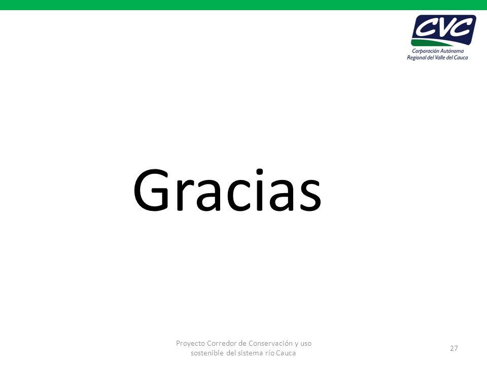 Gracias Proyecto Corredor de Conservación y uso sostenible del sistema río Cauca 27