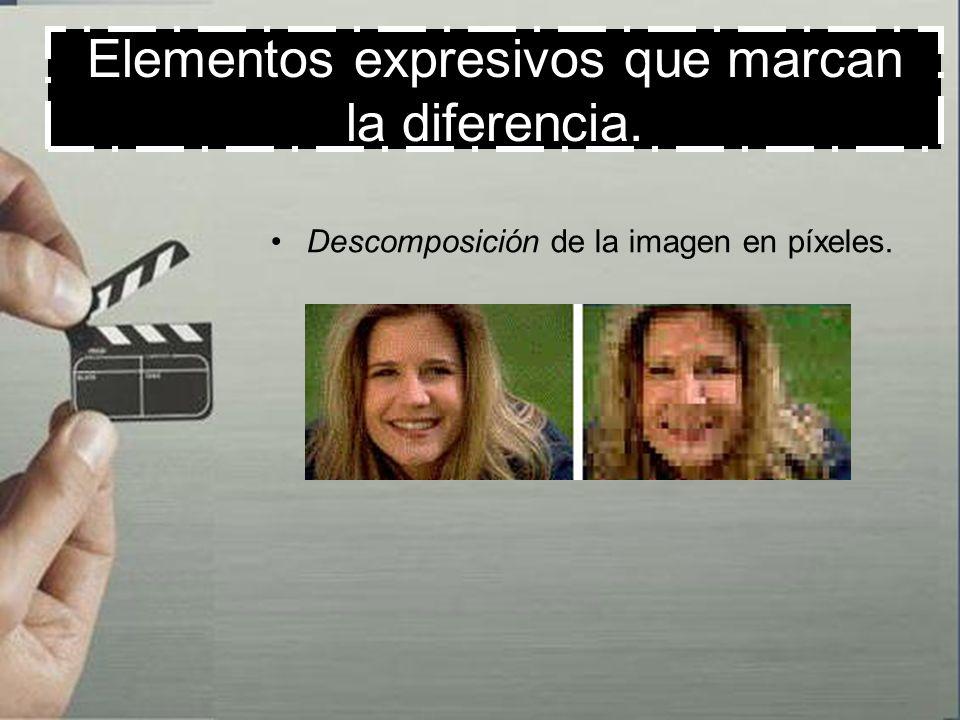 Elementos expresivos que marcan la diferencia. División de la pantalla en subpantallas.