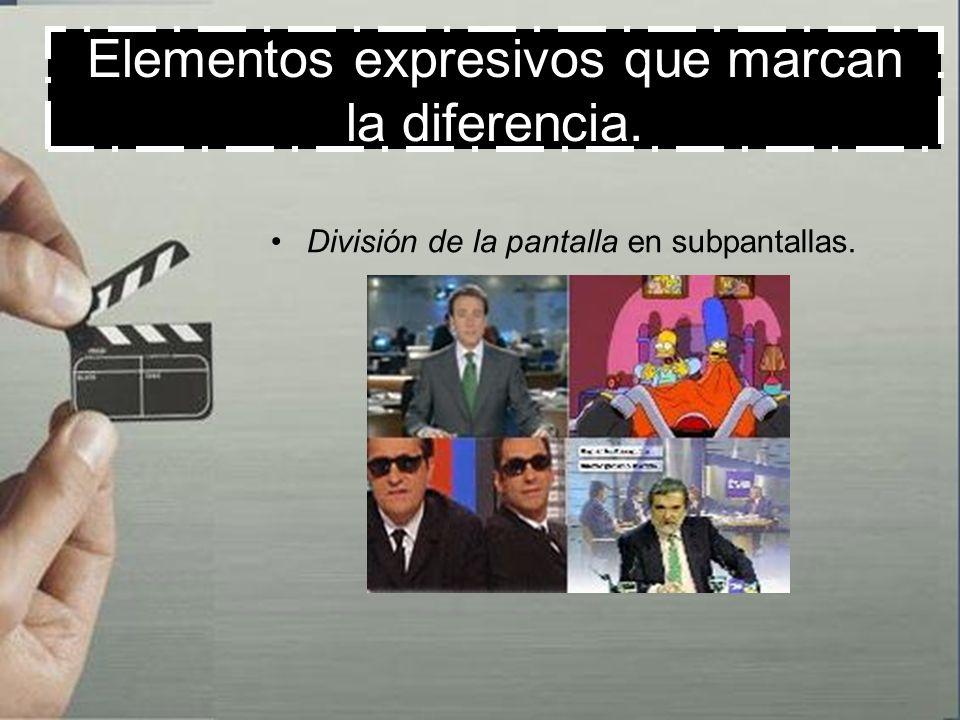Elementos expresivos que marcan la diferencia. Multiplicación de imágenes en la pantalla.