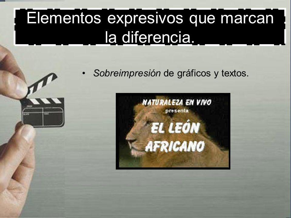Elementos expresivos que marcan la diferencia. Wipe o limpieza de la pantalla: