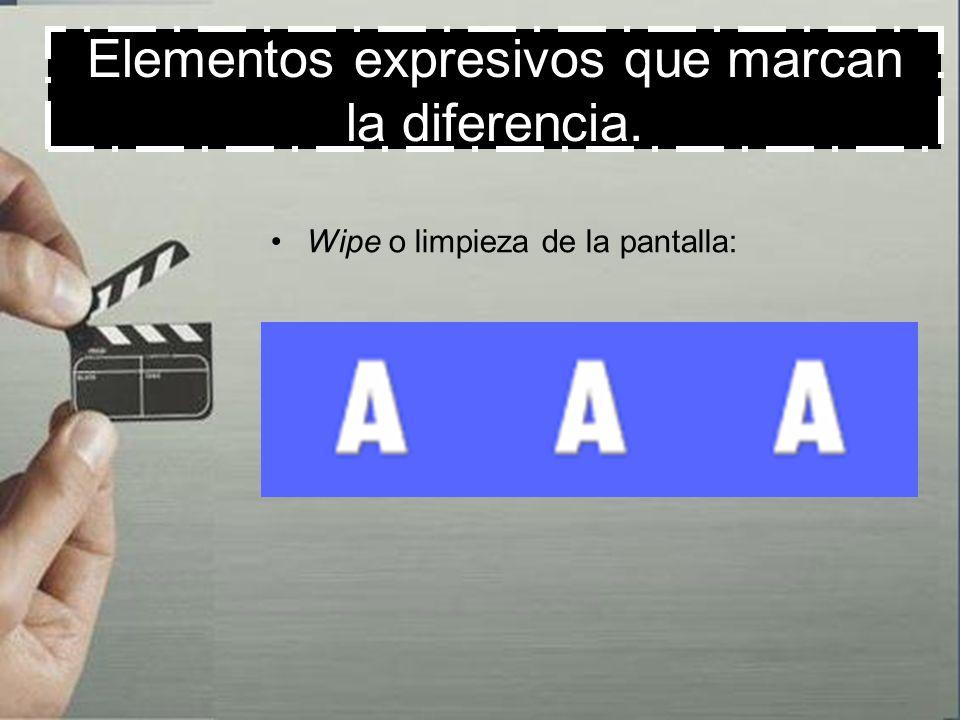 Elementos expresivos que marcan la diferencia. Mezcla de imágenes