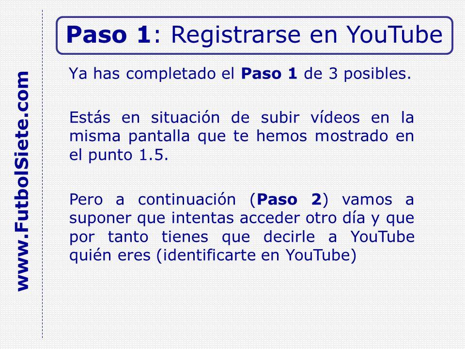 3.1 Abre el vídeo en tu menú (ver paso 2.2) Paso 3: Enlazar vídeo www.FutbolSiete.com