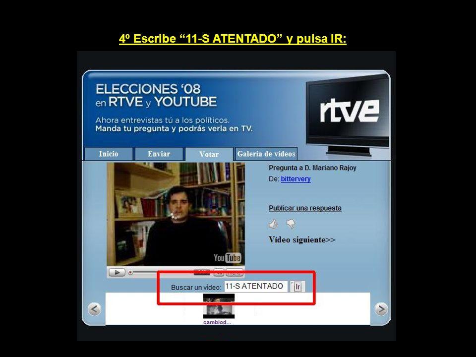 3º Utiliza el buscador de vídeos para localizar el que te interesa votar: