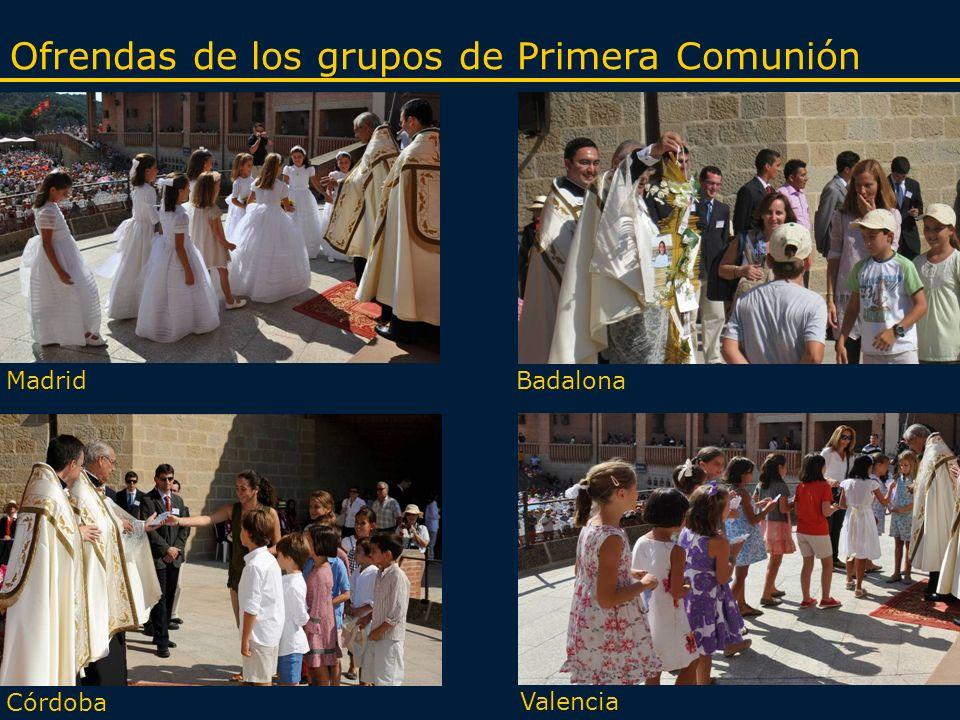 MadridBadalona Córdoba Valencia Ofrendas de los grupos de Primera Comunión