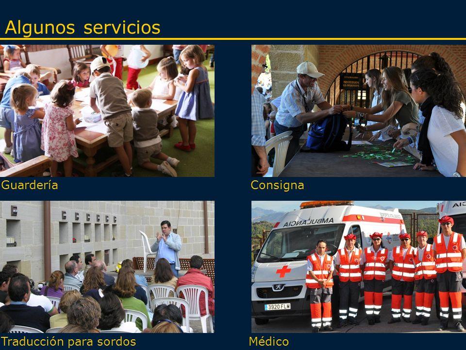 GuarderíaConsigna MédicoTraducción para sordos Algunos servicios