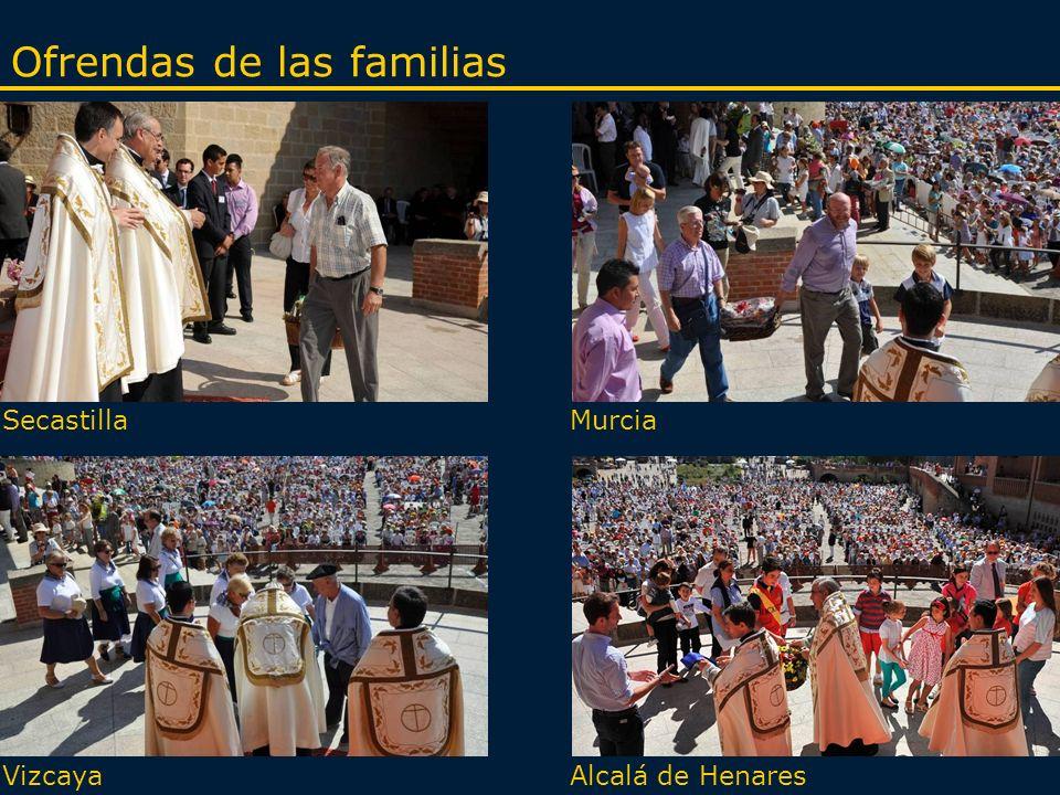 Ofrendas de las familias SecastillaMurcia Alcalá de HenaresVizcaya