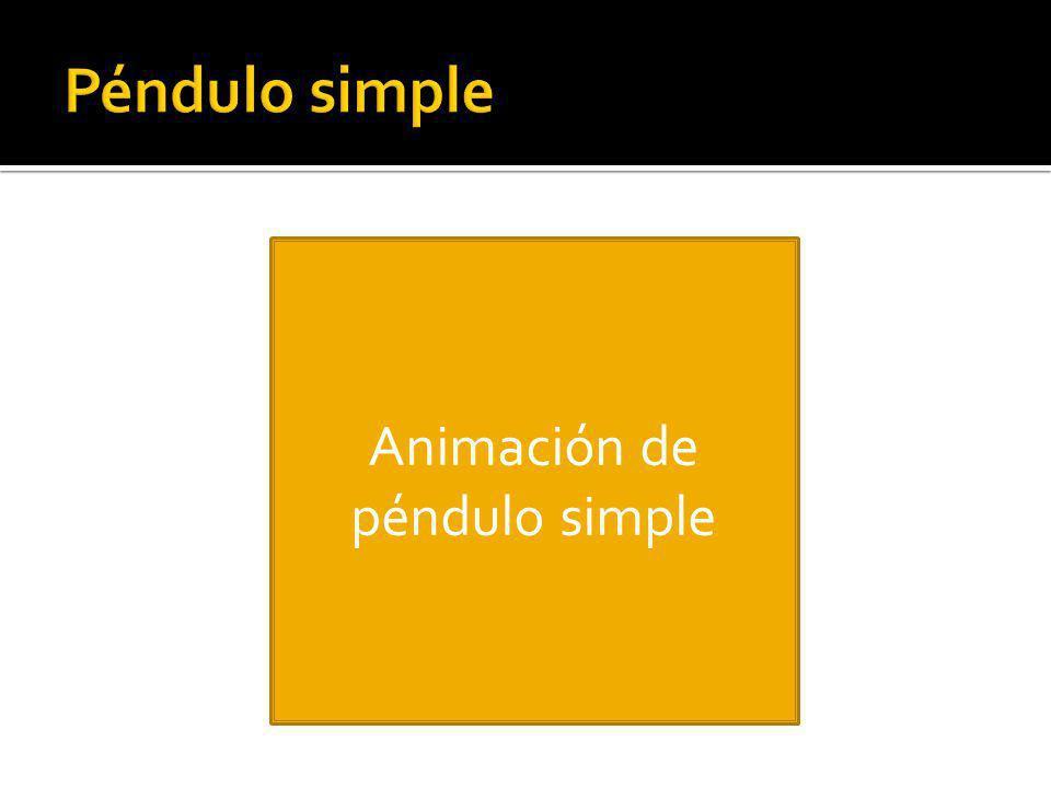 Animación de péndulo simple