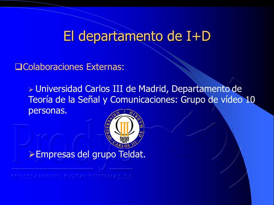 Colaboraciones Externas: Universidad Carlos III de Madrid, Departamento de Teoría de la Señal y Comunicaciones: Grupo de vídeo 10 personas.