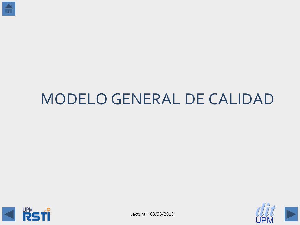 Lectura – 08/03/2013 MODELO GENERAL DE CALIDAD