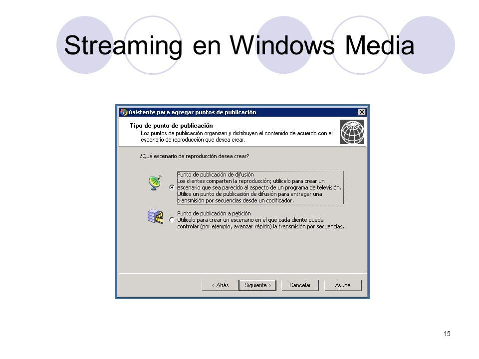 15 Streaming en Windows Media