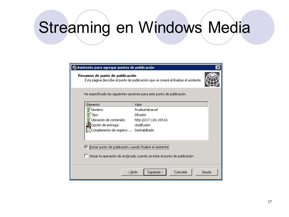 17 Streaming en Windows Media