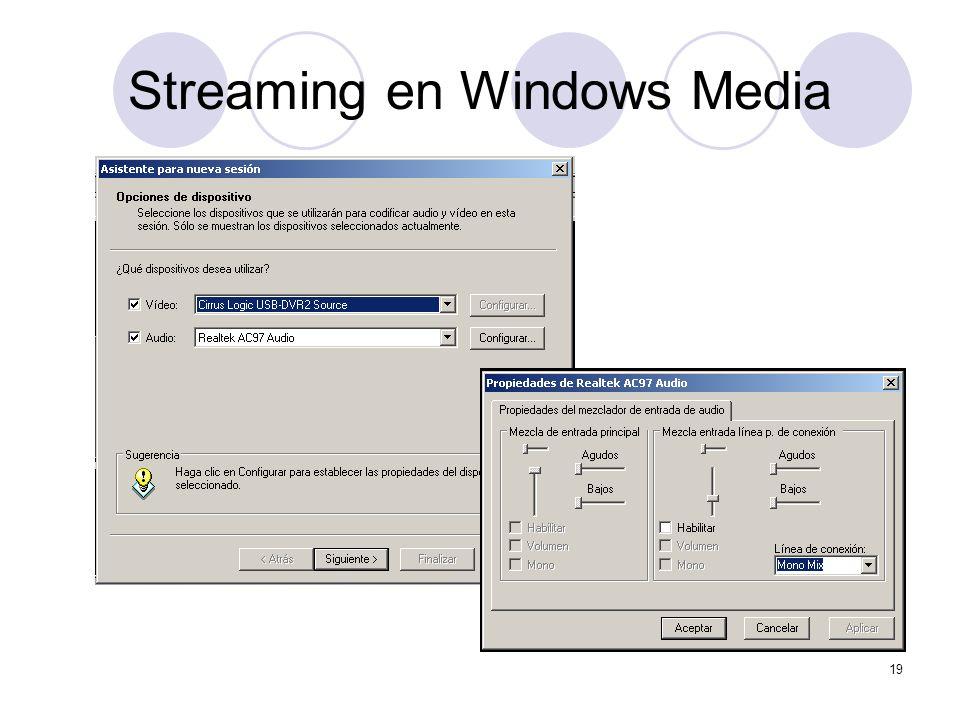 19 Streaming en Windows Media