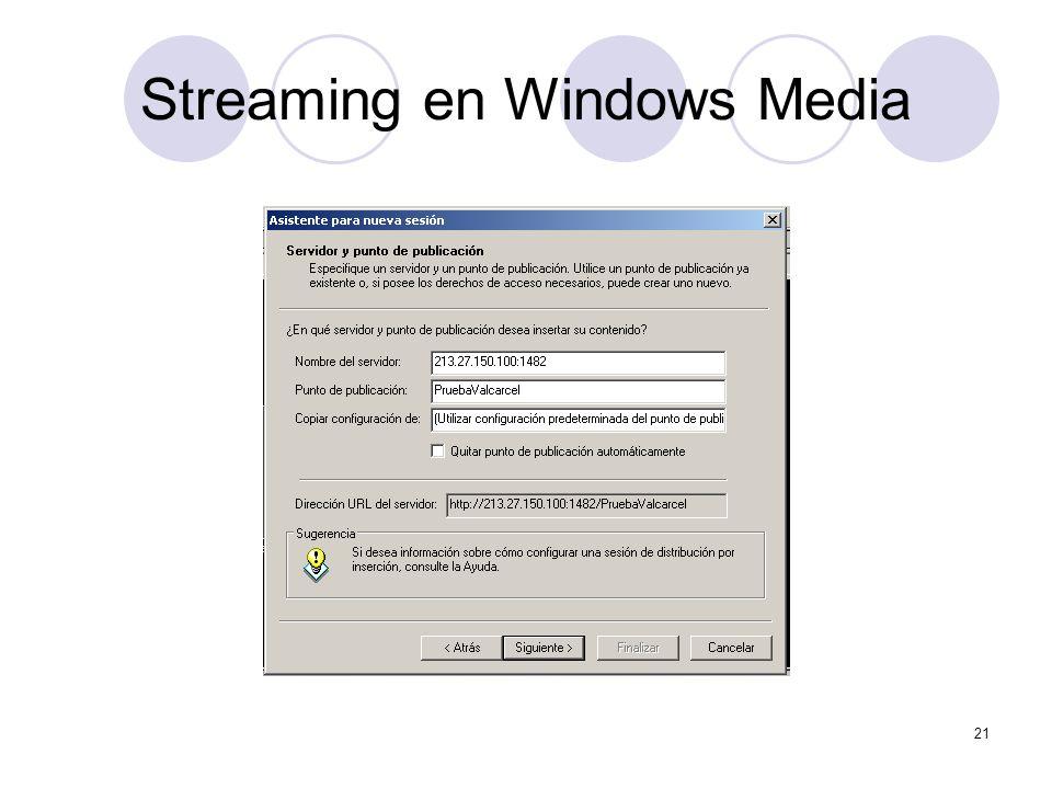 21 Streaming en Windows Media
