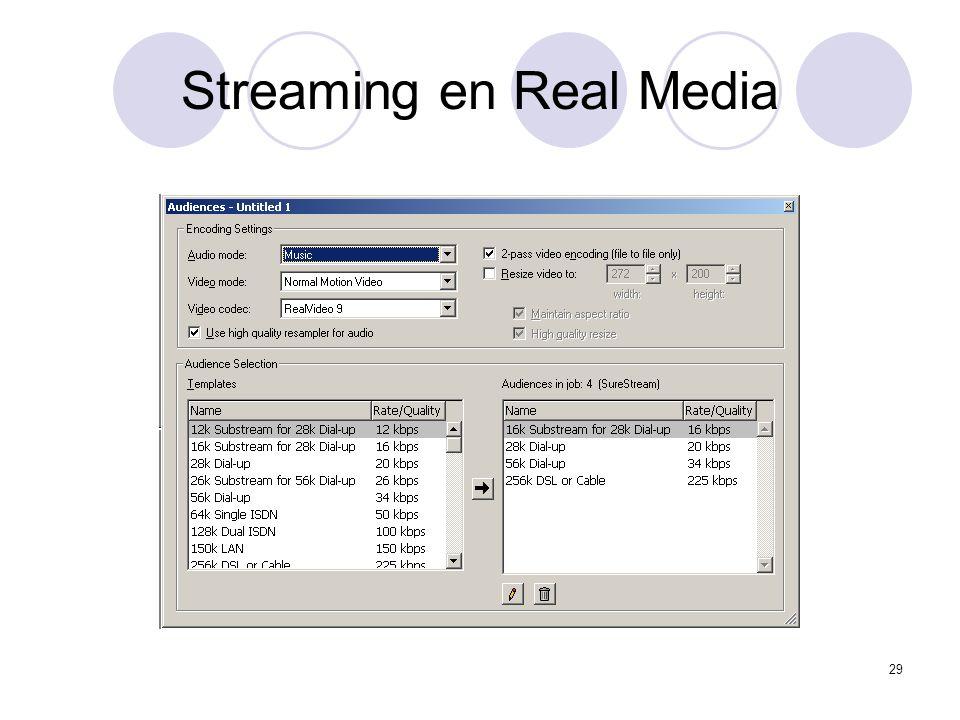 29 Streaming en Real Media