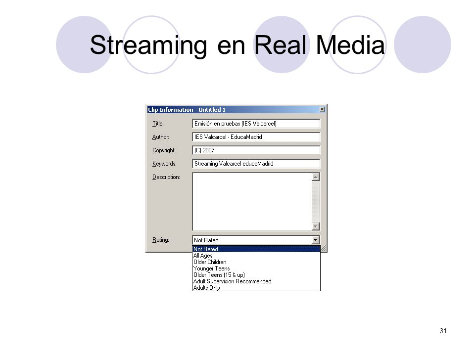 31 Streaming en Real Media