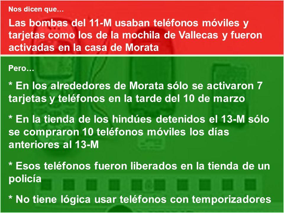 Las bombas del 11-M usaban teléfonos móviles y tarjetas como los de la mochila de Vallecas y fueron activadas en la casa de Morata Pero… * En los alre