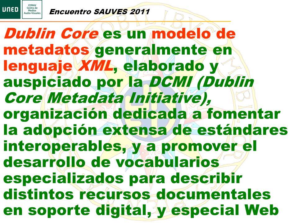 Dublin Core es un modelo de metadatos generalmente en lenguaje XML, elaborado y auspiciado por la DCMI (Dublin Core Metadata Initiative), organización