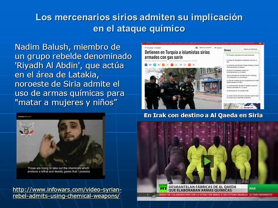 Los mercenarios sirios admiten su implicación en el ataque químico Nadim Balush, miembro de un grupo rebelde denominado 'Riyadh Al Abdin', que actúa e