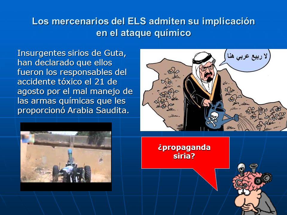 Los mercenarios del ELS admiten su implicación en el ataque químico Insurgentes sirios de Guta, han declarado que ellos fueron los responsables del ac