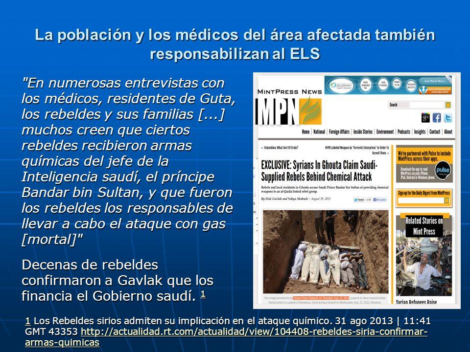 La población y los médicos del área afectada también responsabilizan al ELS
