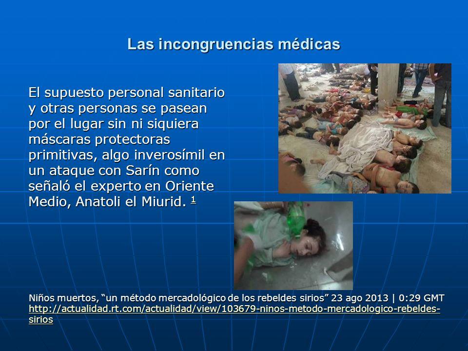 Las incongruencias médicas El supuesto personal sanitario y otras personas se pasean por el lugar sin ni siquiera máscaras protectoras primitivas, alg