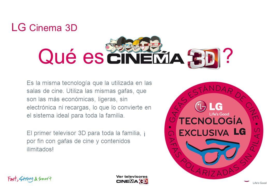 El procesador de imagenes XD Engine 3D de LG, además convierte imágenes de 2D a 3D utilizando algoritmos de conversión.