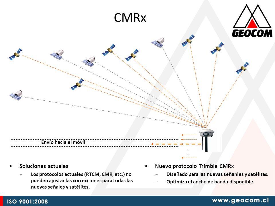 Soluciones actuales – Los protocolos actuales (RTCM, CMR, etc.) no pueden ajustar las correcciones para todas las nuevas señales y satélites.
