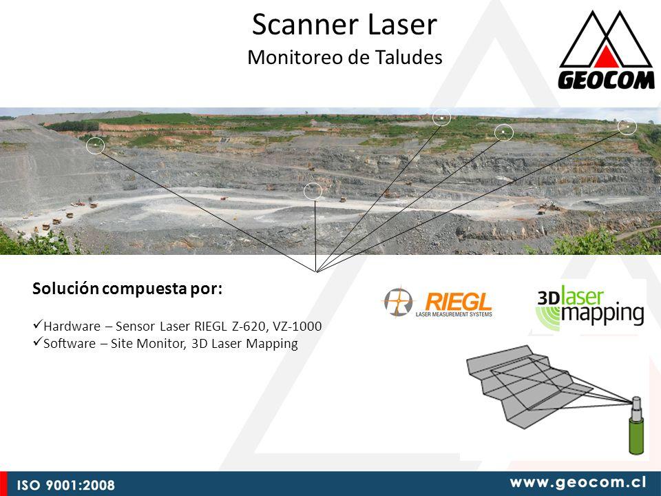 ML Scanner Laser Monitoreo de Taludes Solución compuesta por: Hardware – Sensor Laser RIEGL Z-620, VZ-1000 Software – Site Monitor, 3D Laser Mapping