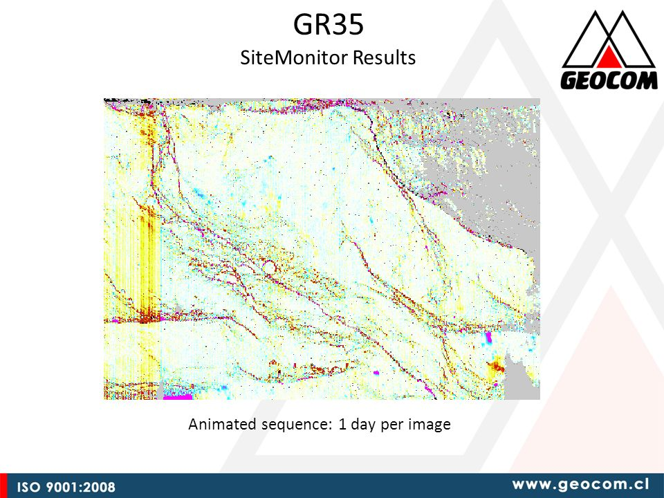 GR35 SiteMonitor Results Animated sequence: 1 day per image