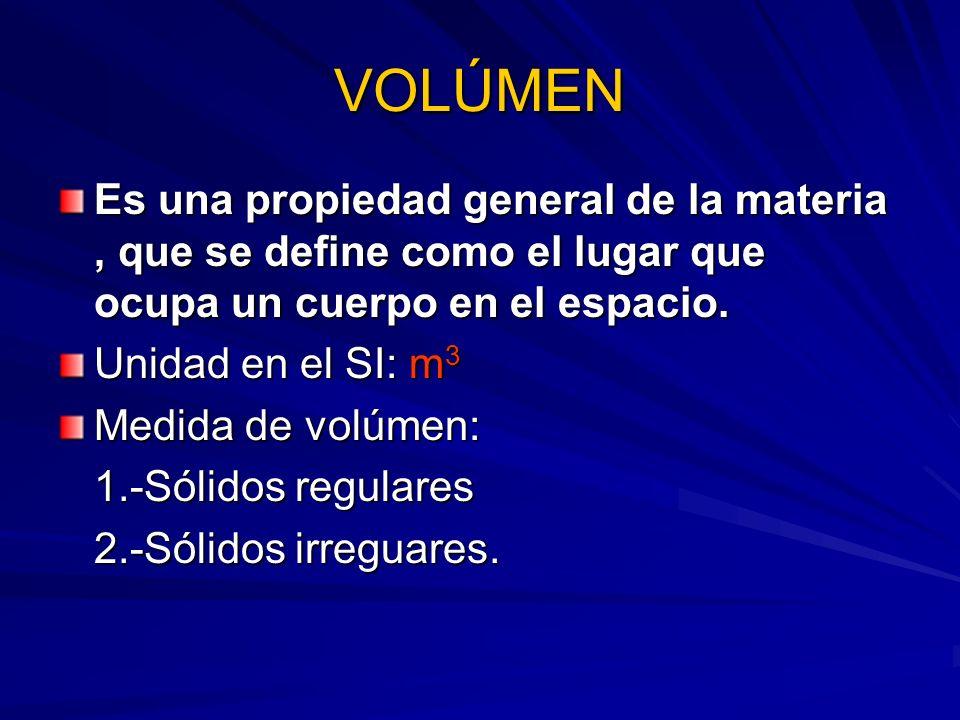 Como se mide el volúmen 1.-SÓLIDOS REGULARES:Aquelllos que tienen una forma definida.
