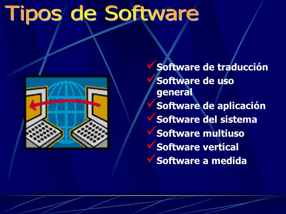 Es la parte intangible del cumputador o todos los diferentes programas que pueden ser usados para tareas asignadas. Programas: Conjuntos de instruccio