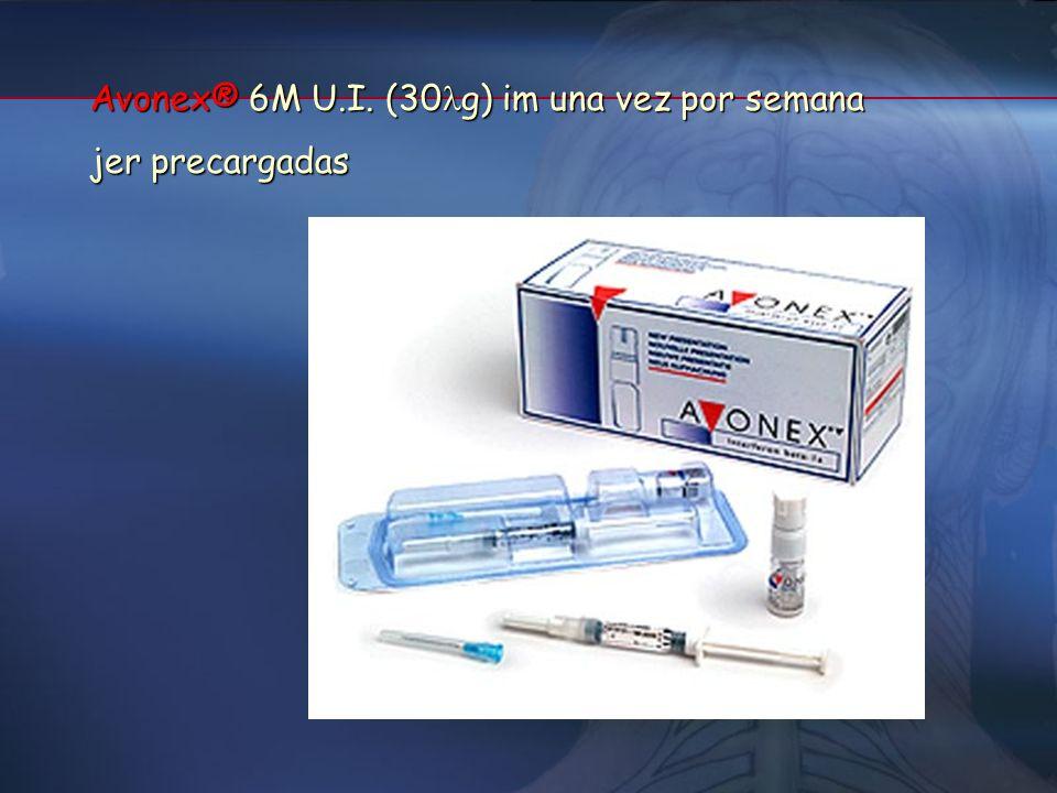 ESQUEMAS TERAPÉUTICOS Betaferon® 8M U.I. (250 g) sc en días alternos Viales