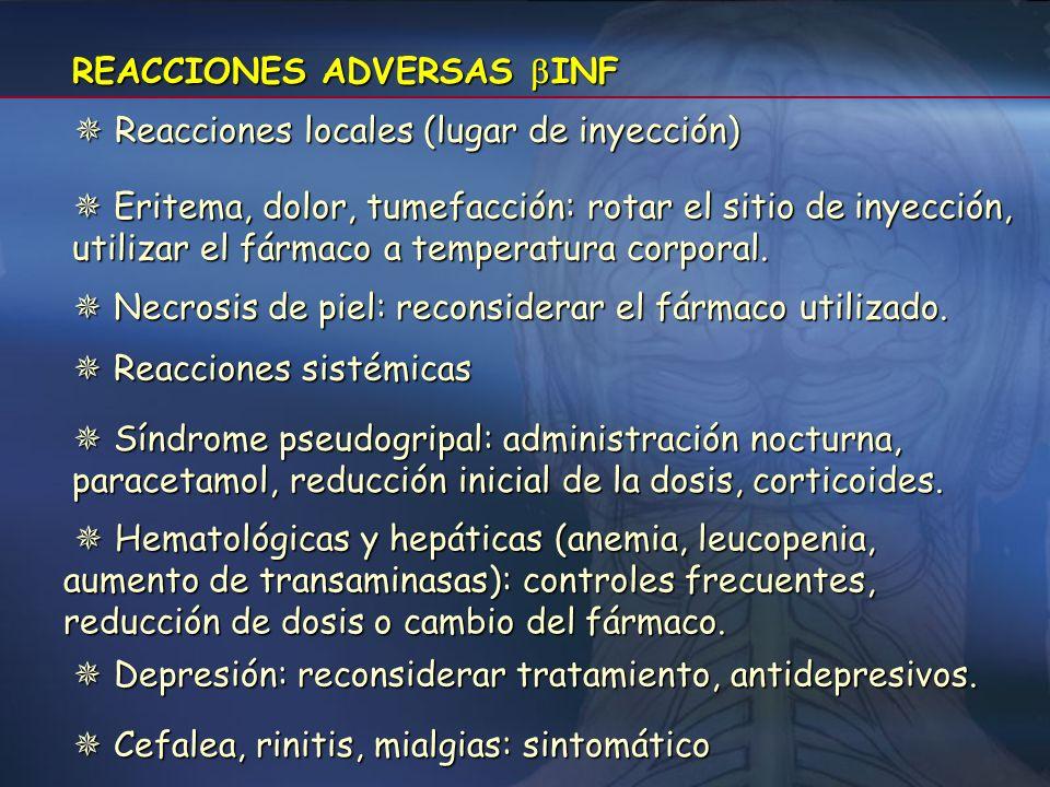 INTERACCIONES INF - No se recomienda el empleo concomitante con otros inmunomoduladores, con excepción de corticosteroides o ACTH, por la falta de exp