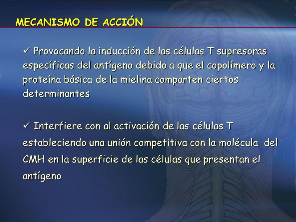 ESQUEMA TERAPÉUTICO Copaxone® 20 mg, subcutáneo, en administración diaria. Copaxone® 20 mg, subcutáneo, en administración diaria. jer prec