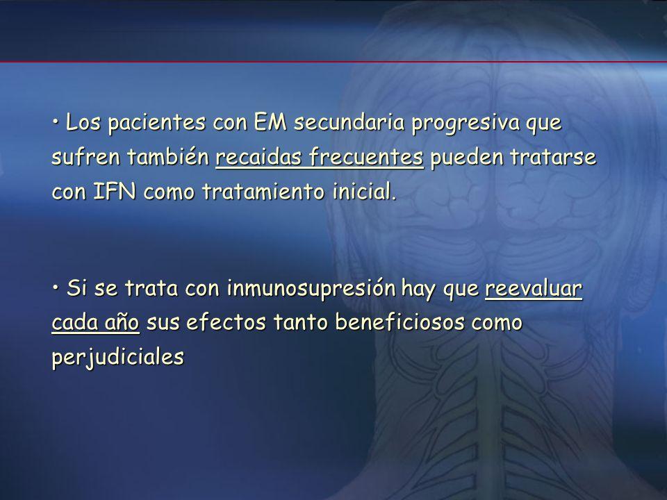 Fármacos inmunosupresores: Metotrexato, azatioprina, mitoxantrona, ciclofosfamida, cladribina Fármacos inmunosupresores: Metotrexato, azatioprina, mit
