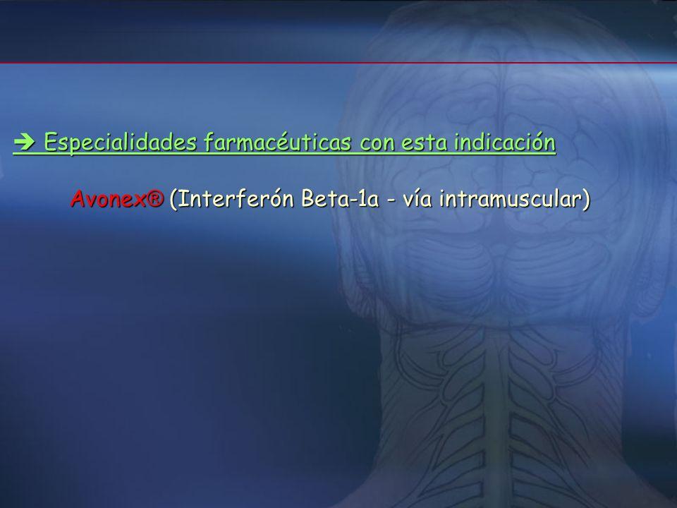 1.c/ Tratamiento de pacientes con primer brote Características de los pacientes Características de los pacientes 1.1.- Un único acontecimiento desmiel