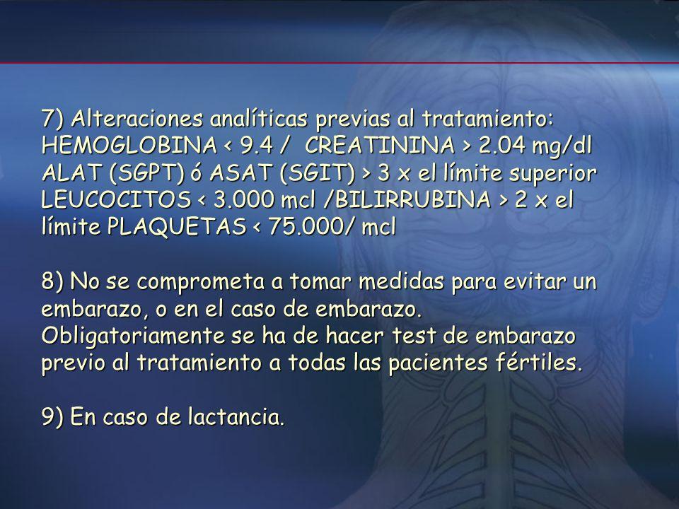 2- Criterios para no administrar INF beta 1) Formas primarias progresivas. 2) Formas benignas 3) Pacientes con EM que presenten una enfermedad intercu