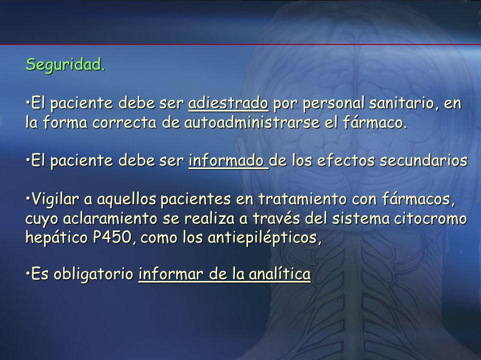 5- Recomendaciones La prescripción del tratamiento con Interferón Beta se realizará siempre por especialistas en Neurología, que realizarán el envío d